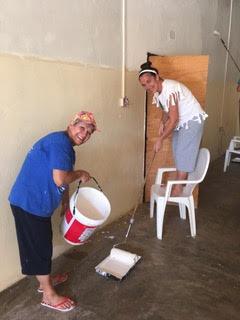 Rosemary and Glenda Painting